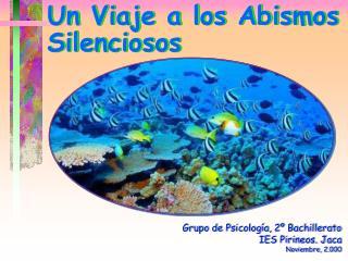Grupo de Psicología, 2º Bachillerato IES Pirineos. Jaca Noviembre, 2.000