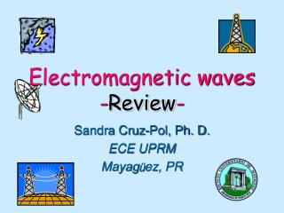 Electromagnetic waves - Review -