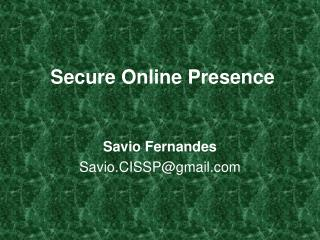 Secure Online Presence