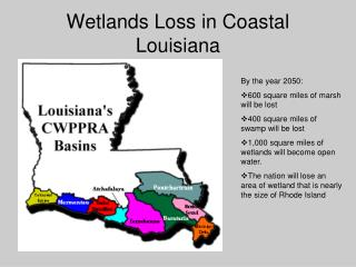 Wetlands Loss in Coastal Louisiana