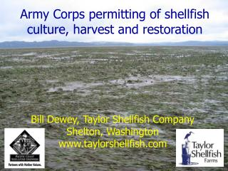 Army Corps permitting of shellfish culture, harvest and restoration