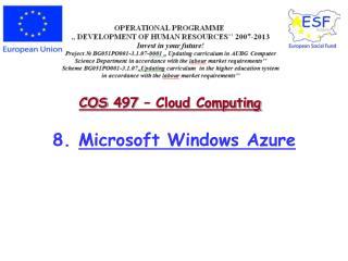 8.  Microsoft Windows Azure