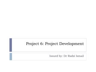 Project 6: Project Development