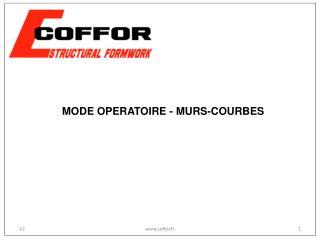 MODE OPERATOIRE - MURS-COURBES