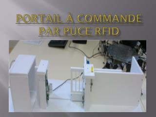 Portail à commande par puce RFID