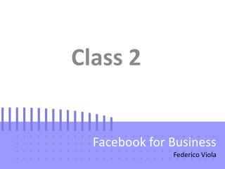 Facebook for Business Federico  Viola