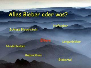 Alles Bieber oder was?