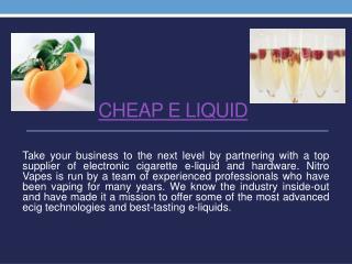 Cheap E Liquid