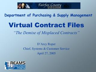 Department of Purchasing & Supply Management