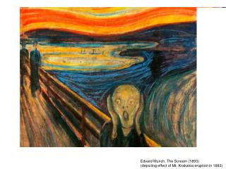 Edvard Munch, The Scream (1893)  (depicting effect of Mt. Krakatoa eruption in 1883)