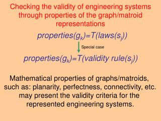 properties(g k )=T(laws(s j ))
