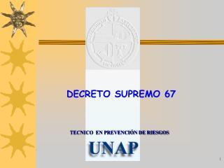 DECRETO SUPREMO 67
