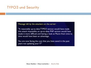 TYPO3 und Security