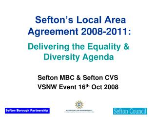 Sefton's Local Area Agreement 2008-2011: