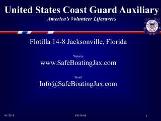 United States Coast Guard Auxiliary America s Volunteer Lifesavers