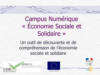 Campus Numérique «Économie Sociale et Solidaire»