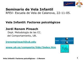 Seminario de Vela Infantil  RFEV- Escuela de Vela de Calanova, 22-11-05.