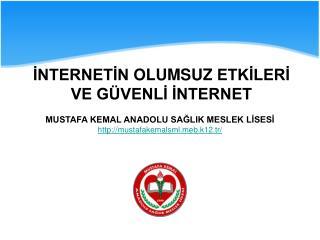 MUSTAFA KEMAL ANADOLU SAĞLIK MESLEK LİSESİ mustafakemalsmlb.k12.tr/