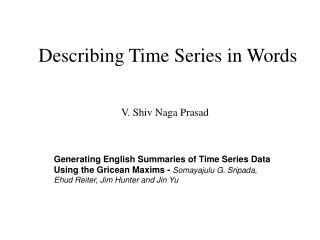 Describing Time Series in Words