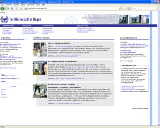 Homepage FernUni