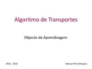 Algoritmo de  Transportes