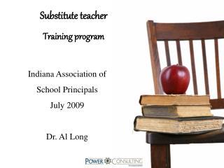 Substitute teacher Training program