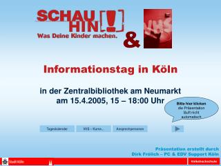 Informationstag in K�ln
