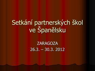 Setkání partnerských škol ve Španělsku