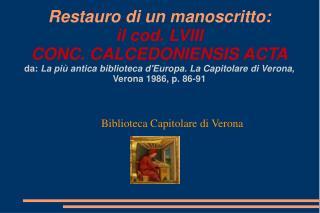 Biblioteca Capitolare di Verona
