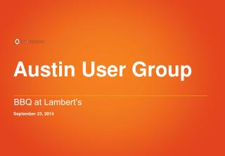 Austin User Group