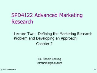 SPD4122 Advanced Marketing Research