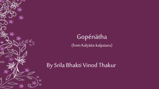 Gopénätha (from  Kalyäëa-kalpataru )