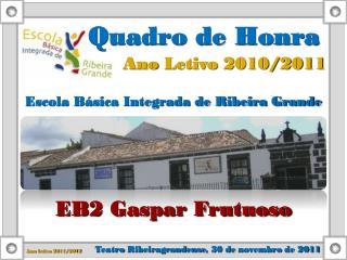 Ano  Letivo  2010/2011