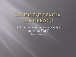 Samorząd szkołą demokracji