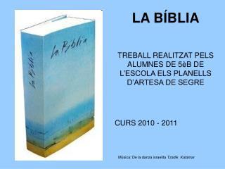 LA B�BLIA TREBALL REALITZAT PELS ALUMNES DE 5�B DE L�ESCOLA ELS PLANELLS D�ARTESA DE SEGRE