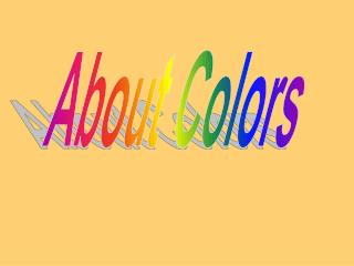 About Colors