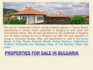 Property for sale Sunny Beach Bulgaria