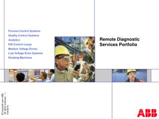 Remote Diagnostic Services Portfolio