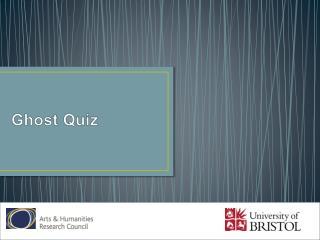 Ghost Quiz