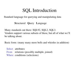 SQL Introduction