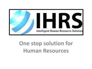 One stop solution for Human Resources