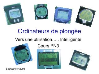 Ordinateurs de plong e