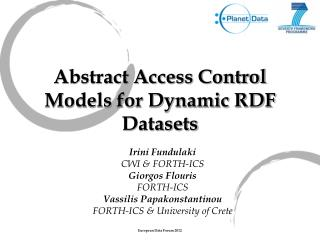 Abstract Access Control Models for Dynamic RDF Datasets