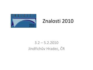 Znalosti 2010