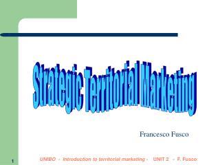 Strategic Territorial Marketing