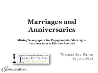 Genealogy Research using Marriage Records
