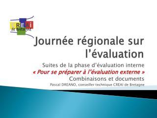 Journée régionale sur l'évaluation
