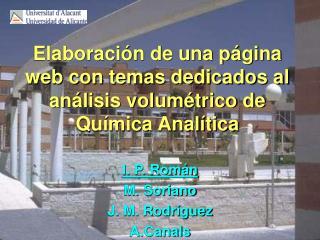 Elaboración de una página web con temas dedicados al análisis volumétrico de Química Analítica