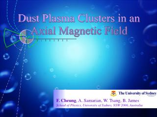 Dust Plasma Clusters in an Axial Magnetic Field