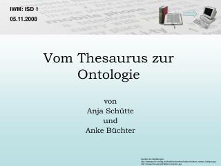 Vom Thesaurus zur Ontologie